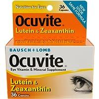 海外直送品Bausch And Lomb Bausch And Lomb Ocuvite Lutein Eye Vitamin And Mineral Supplement Capsules, 36 caps (Pack of 2)