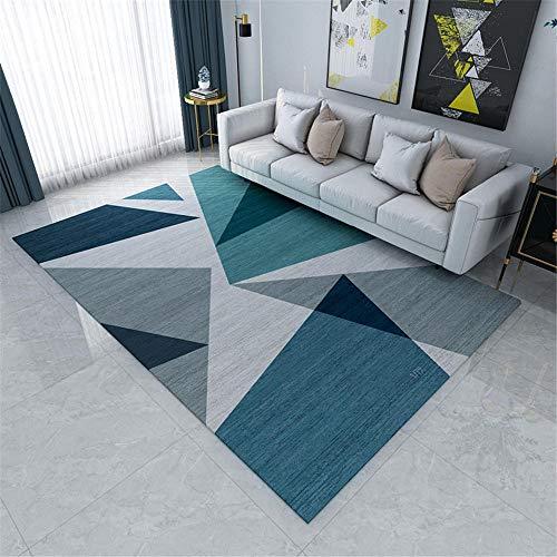 Kunsen Cuadro Decoracion Salon Alfombra habitacion Alfombra geométrica Azul Morte Forma para LA Sala DE NIÑOS dormitorios Juveniles Infantiles 40x60cm 1ft 3.7' X1ft 11.6'