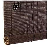 Giardino Persianas de bambú Vintage Persianas enrollables, 100% Natural Persianas de Madera de bambú Persianas de Tela Hechas a Mano con Filtro de luz