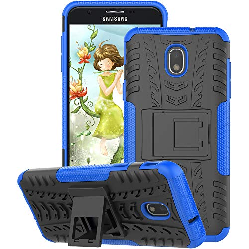 GSDCB Samsung Galaxy J7 Case 2018, Galaxy J7 Refine Case, Galaxy J7V / J7 V Case 2018 (2nd Gen), Galaxy J7 Star Case, J7 Top, J7 Aura, J7 Aero, J7 Crown, J7 Eon, Phone Case with Kickstand (Blue)