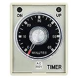 Relevador de tiempo de liberación, relé de tiempo de retardo multifunción duradero de alta precisión para ventilación interior para control industrial(380V)