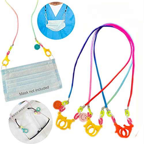 Face Mask Lanyard Handy&Convenient Safety Mask Holder&Hanger Comfortable Around The Neck Facemask Rest Ear Saver Eyeglass Holder Lanyards for Child Man Woman ( Color : Random Gradient , Set : 2pack )