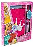 Sambro DSP16-6836 - Cuaderno (A5, con Lentejuelas, Incluye lápiz con 10 Colores), diseño de Princesas Disney