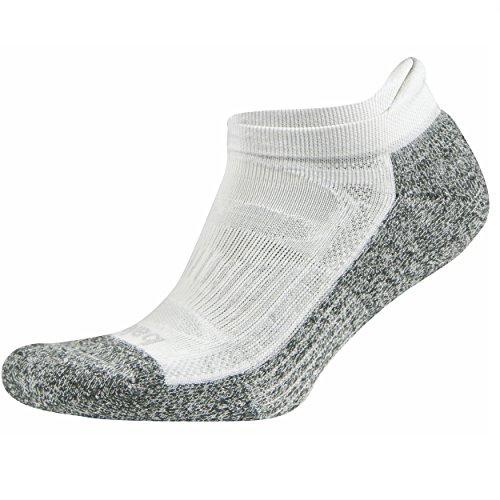 Balega Blister Resist No Show Running Socks For Men and Women (1 Pair), White, Medium