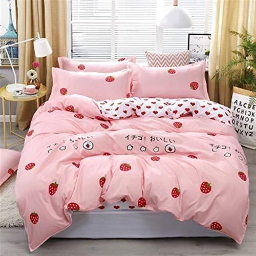 Juego De Ropa Cama 4pcs del lecho de la reina de lujo de tamaño ropa de cama infantil suave edredón edredón Conjuntos de algodón ropa de cama for chicas ( Color : 01 , Size : Super King(2.2m bed) )
