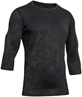 ZDCGT 多機能 スポーツインナー メンズ アウトドア スポーツシャツ メッシュ設計 インナー 吸汗速乾 UVカット Tシャツ ランニング トレーニング アンダーウェア コンプレッション 7分丈 通気 男性用
