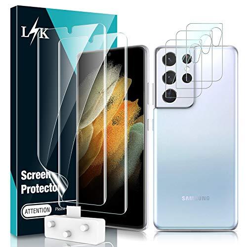 LϟK 5 Pack Protector de Pantalla para Samsung Galaxy S21 Ultra 5G...