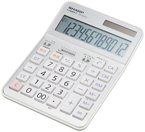 シャープ 実務電卓 抗菌セミデスクトップタイプ CS-S952CX