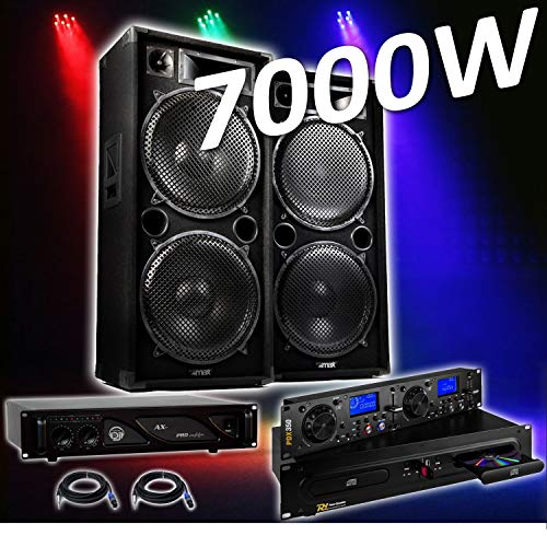 PACK SONO COMPLET 4000 W PRO DJ MAX-215 4 x 38 cm