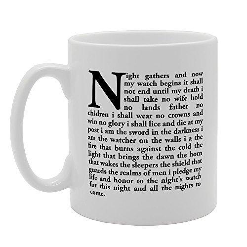 N\A La Noche se reúne y no Comienza mi Reloj, Novedad, Taza única de Sarcasmo de 11 oz, Taza de café de cerámica, Regalos de cumpleaños