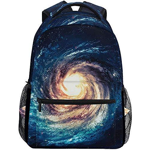 Precious Meet Univers Spiral Galaxy Sacs à Dos Space Nebula Cosmic Book Bag Casual Waterproof Laptop Backpack Lightweight