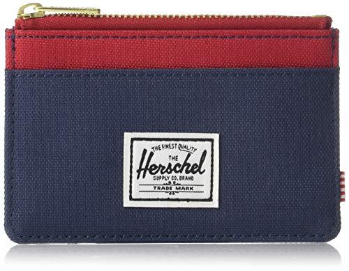 Herschel Oscar RFID - Tarjetero para Hombre Azul Marino y Rojo Talla única