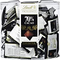 Lindt Excellence 70% Minischokoladentäfelchen -Edelbitter Intensiv (vegan, glutenfrei, laktosefrei) 385g