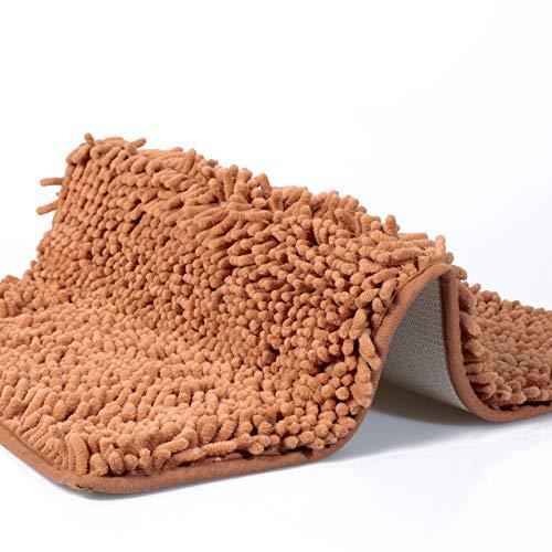 dóff Alfombra baño, Alfombrilla de bañera Antideslizante, Alfombras para baños, champaña, Absorbente, Lavable en la Lavadora, Extra Suave, Microfibra Chenilla 40x60cm