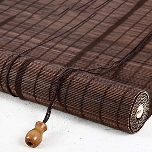Tende Stile Giapponese, Paralume a Rullo in bambù, Larghezza 80 cm / 90 cm / 100 cm - per finestre, cucine, camere da Letto, uffici, soggiorni, oscuranti, Marrone ZHANGAIZHEN