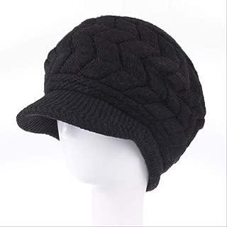 MZHHAOAN Women Winter Hat Warm Beanies Fleece Inside Knitted Hats for Women Rabbit Fur Cap Autumn and Winter Ladies Fashion Hat