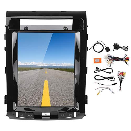 Car Navigator, radio de coche de 12,1 pulgadas, estéreo, sistema de navegación GPS, sistema de navegación de pantalla vertical con panel decorativo apto para Land Cruiser 2008-2015 (32G ROM + 1G RAM)