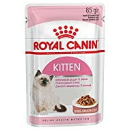 ROYAL CANIN Kitten Instinctive wet cat 85g pouches comes in either Gravy or Jelly (Gravy, x 24 Pouch...