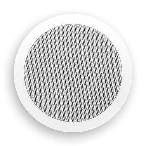 "Micca M-6C 6.5 Inch 2-Way in-Ceiling in-Wall Speaker with Pivoting 1"" Silk Dome Tweeter (Each, White)"