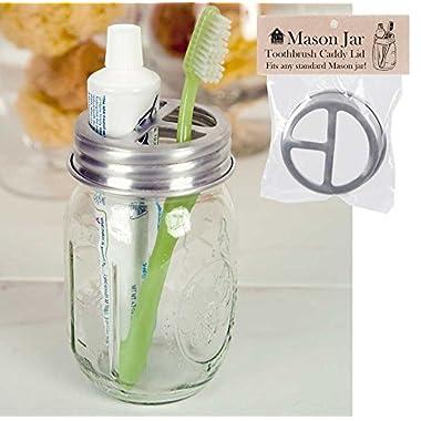Mason Jar Toothbrush Holder Lid