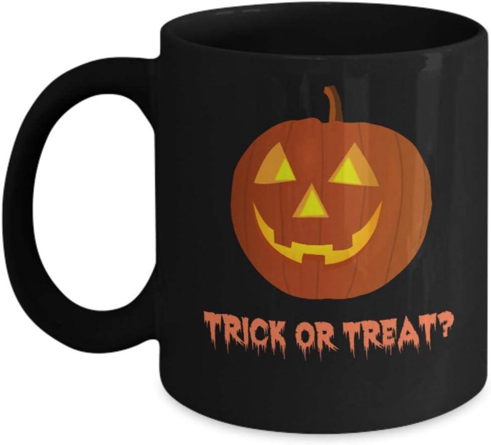 Amazon Com Halloween Coffee Mugs Trick Or Treat Theme Inspired Novelty Mug 15 Oz Home Kitchen