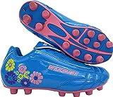 Vizari Blossom FG - Zapatillas de fútbol (niños pequeños), Azul/Rosado, 17.5 MX Niño pequeño