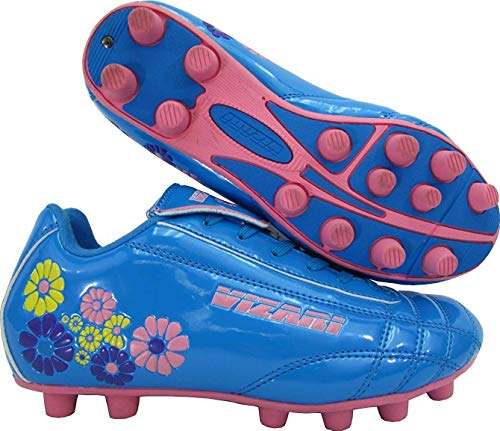 Vizari Blossom FG Soccer Shoe (Toddler/Little Kid),Blue/Pink,11 US Little Kid