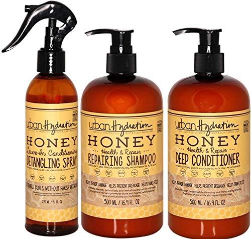 Urban Hydration Honey Hair Cleanse and Detangle 3pc Set