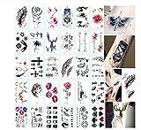 30 Hojas 3D Mariposa Tatuajes Temporales Arte Corporal Pegatina Flor Letras Dibujos Animados Perro Tatuajes Falsos Tatuaje Infinito Para Mujeres, Niños-A1