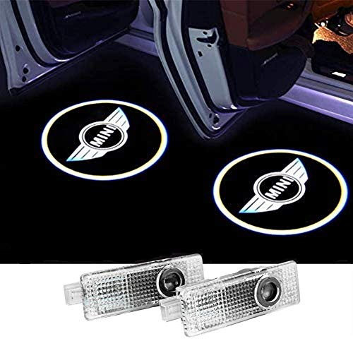 2 Pack Door Light Projector Compatible fit MINI Cooper Countryman Accessories Welcome Light LOGO Courtesy Light Sign Emblem 3D Shadow Ghost Light Projector Compatible with MINI Cooper