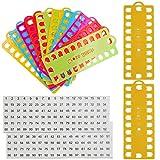 Organizador de hilo de bordar, 12 piezas, soporte de plástico para hilo de punto de cruz, con 2 hojas de número etiqueta para tarjeta de proyecto, color al azar