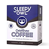 Sleepy Owl Coffee Hazelnut Cold Brew Coffee| 5 Packs | 3 Step Brew