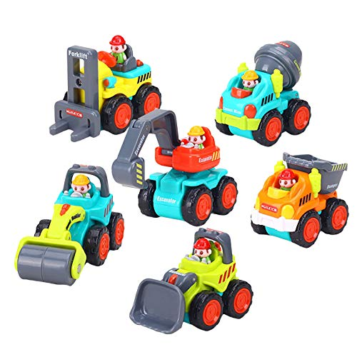 Spielzeug 6pc Freilauf Spielzeugauto Modell Tasche Engineering Fahrzeug Set Sturdy Construction Vehicles Auto Spielzeug Set BPA-Free, Rounded-EdgesBasic
