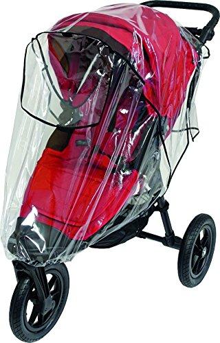 Sunnybaby 10030 Premium-Regenverdeck für XL-Jogger wie Baby Jogger City Elite, tfk Adventure und viele andere mehr, transparent - Qualität: MADE IN GERMANY