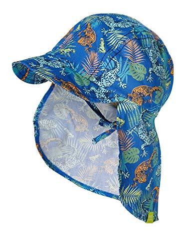 maximo Baby-Jungen Nackenschutz Mütze, Mehrfarbig (echsen 76), (Herstellergröße: 49)