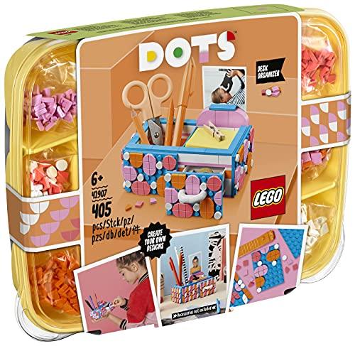LEGO 41907 DOTS Organizador de Escritorio Kit de Manualidades para Niños y Niñas Juego Creativo Decoración de Habitación DIY