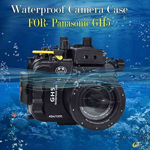Sea frogs Für Panasonic GH 5 130FT/40M Unterwasser Kamera Tauchen wasserdicht Gehäuse (Gehäuse + Rot Filter)