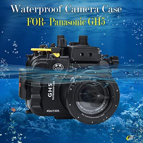 Sea frogs voor Panasonic GH 5 130FT/40M onderwatercamera duiken waterdichte behuizing (behuizing + rode filter)
