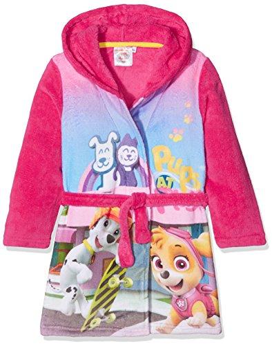 Nickelodeon Mädchen Bademantel Paw Patrol Pups at Play Pink (Fushia 18-2436TC) 3-4 Jahre