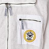 3X Strato di Sicurezza Ultra ventilato Protettivo Unisex Tessuto Bianco Maglia Apicoltore Tuta Apicoltore Vestito Recinzione Velo BeeSuits SFV