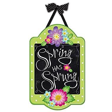 Evergreen Spring Has Sprung Outdoor Safe Felt Door Decor
