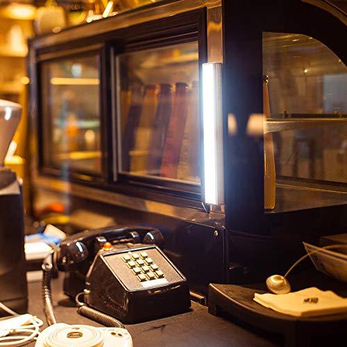 Sensor de movimiento Barra de luz ledCuerpo humano lámpara de inducción gabinete infrarrojo dormitorio con luz armario para el hogar, luz blanca cálida, largo: 23.3cm