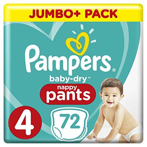 Pampers Baby Dry Windeln, Größe 4, Jumbo+, 72 Stück
