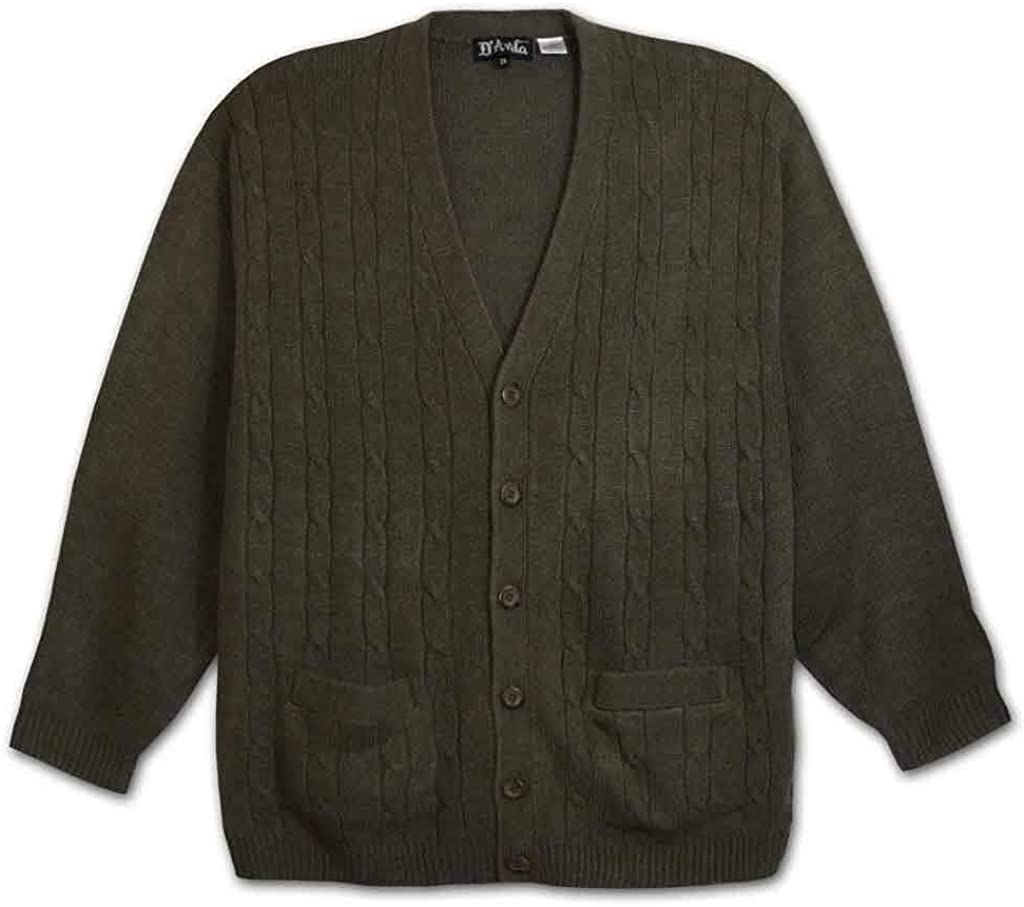 Big and Tall Premium Cable Knit Cardigan to 6X-Tall