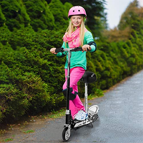 Electric Scooters for Kids, an Upgraded Version of Electric Scooter with Adjustable Handlebars and Mobile Seat, Foldable Portable Scooter, Suitable for Adults and Teenagers (Silver)
