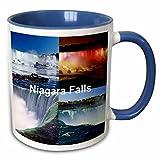 3dRose Niagara Falls Collage-Two Tone Blue Mug, 11 oz, Multicolored