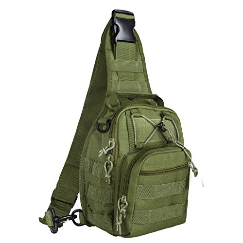 Tactical Backpack, Qcute Waterproof Military Cross-body Molle Sling Chest Bag