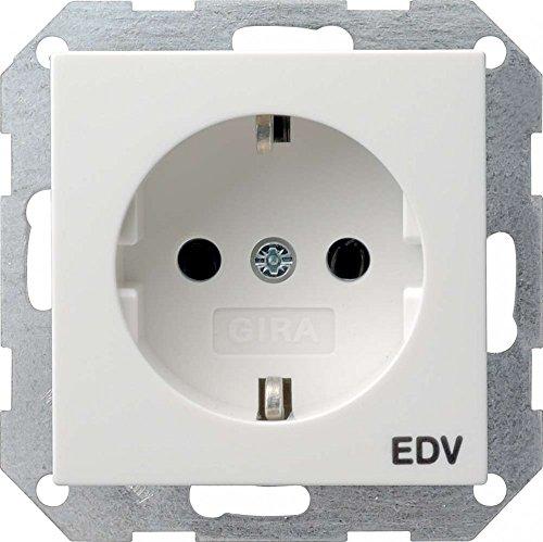 Gira 045827 Schuko Steckdose EDV System 55, reinweiß matt