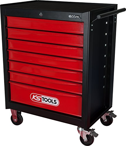 KS Tools 896.0007 ECOline SCHWARZ/ROT Werkstattwagen mit 7 Schubladen