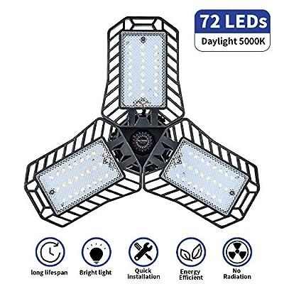 NATHOME LED Light Bulbs,60w Equivalent 72 LEDs,5000K Daylight /E26 Base AC110V CRI80+/deformable led Leaf Light,Indoor use for Led Shop Lights,Workshop Light,Garage Light (1pack Daylight)